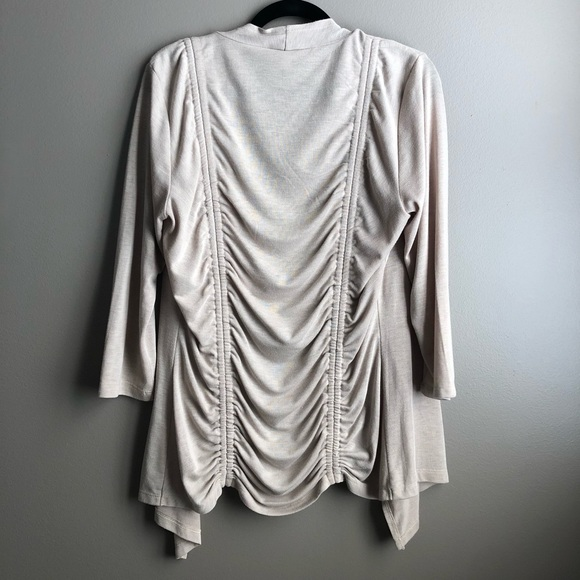 d60bd9f2bfcb94 Cupio Sweaters | Bloomingdales Draped 34 Sleeve Neutral Cardigan ...